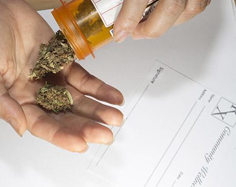 marijuana medication on hand