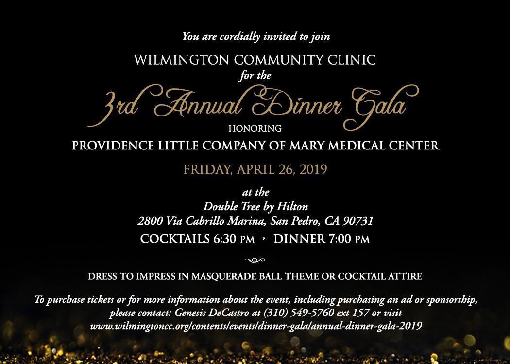 Annual Gala Invite - 2019
