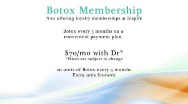 Botox Membership