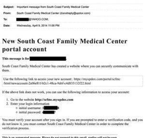 Patient Portal Info - Laguna Niguel, CA: South Coast Family
