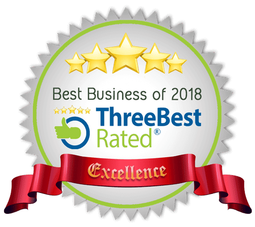 Excellence Best Business Badge of 2018 from Three Best Rated