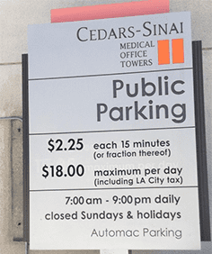 Parking - Cedars Sinai Medical Towers Los Angeles, CA