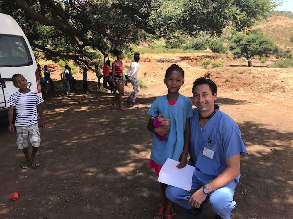 Dr  Adam visited the children of Cape Verde on a dental