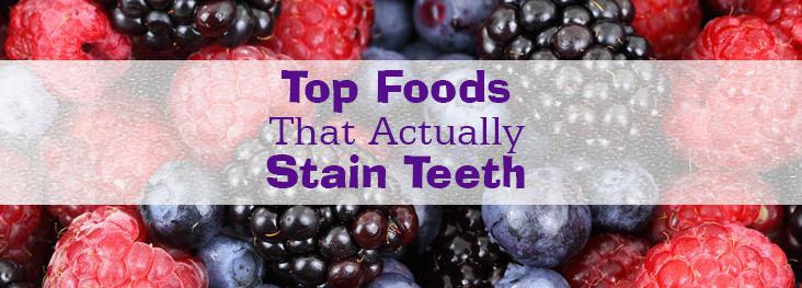 Top Foods That Actually Stain Teeth