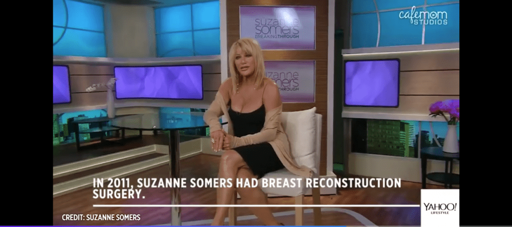 Suzanne Summers on a talk show