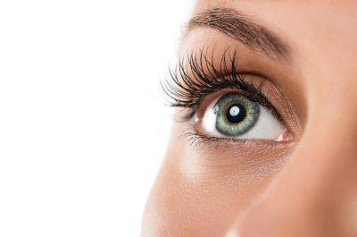 close up of a woman's eyelashes
