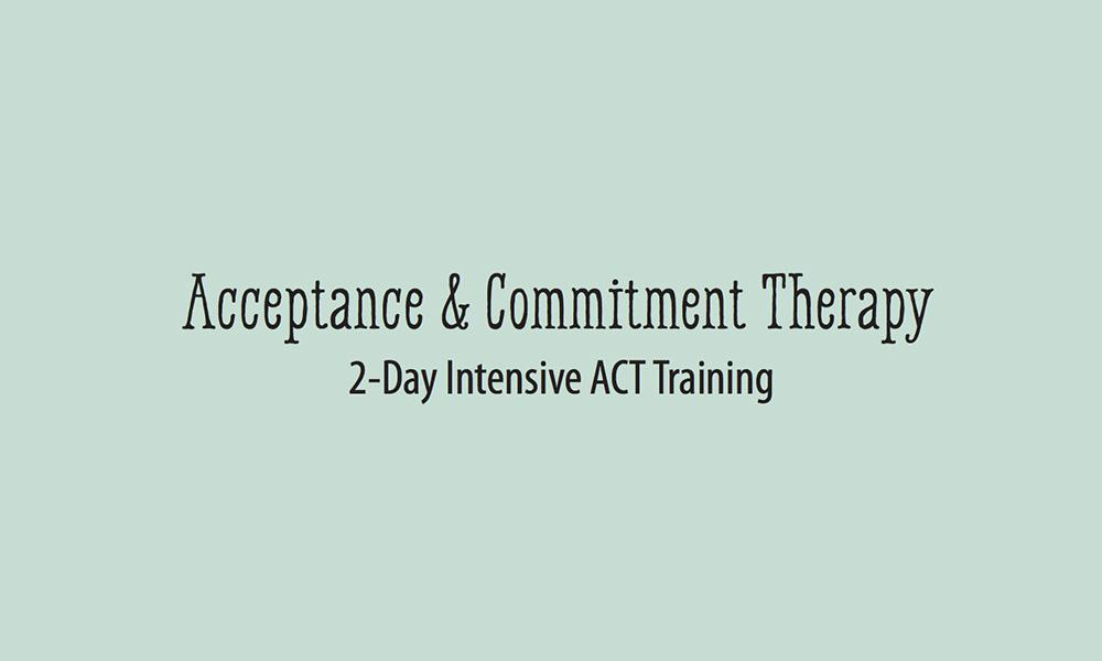 Acceptance and Commitment Therapy Flyer Cover Page