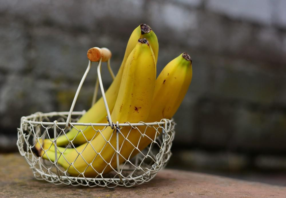 Ripe bananas in a basket