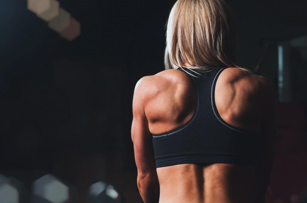 Woman's muscular back