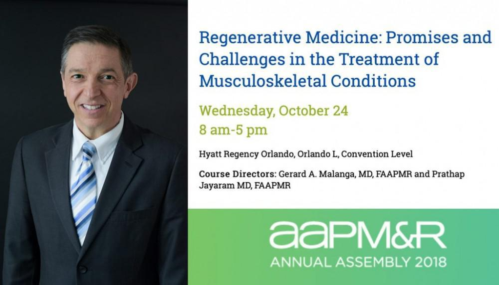 Gerard Malanga, MD Course Director at AAPM&R 2018: New Jersey