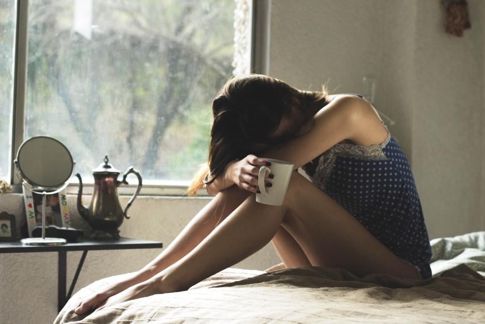 girl with hangover