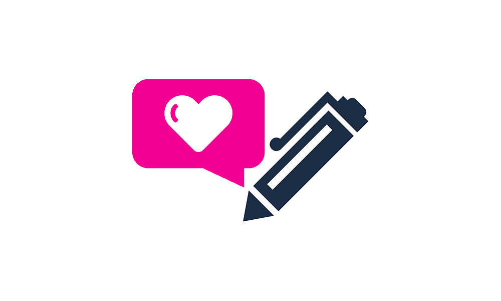 pen and heart graphic