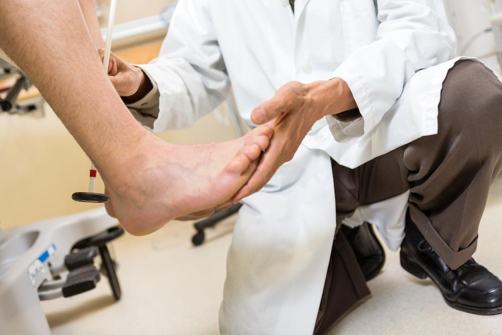 Diabetics need regular podiatry check-ups and care.