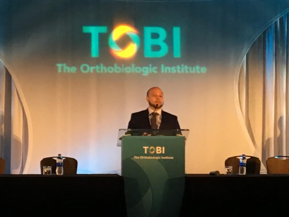 Dr. Alberto Panero presenting at TOBI in Chicago, Illinois