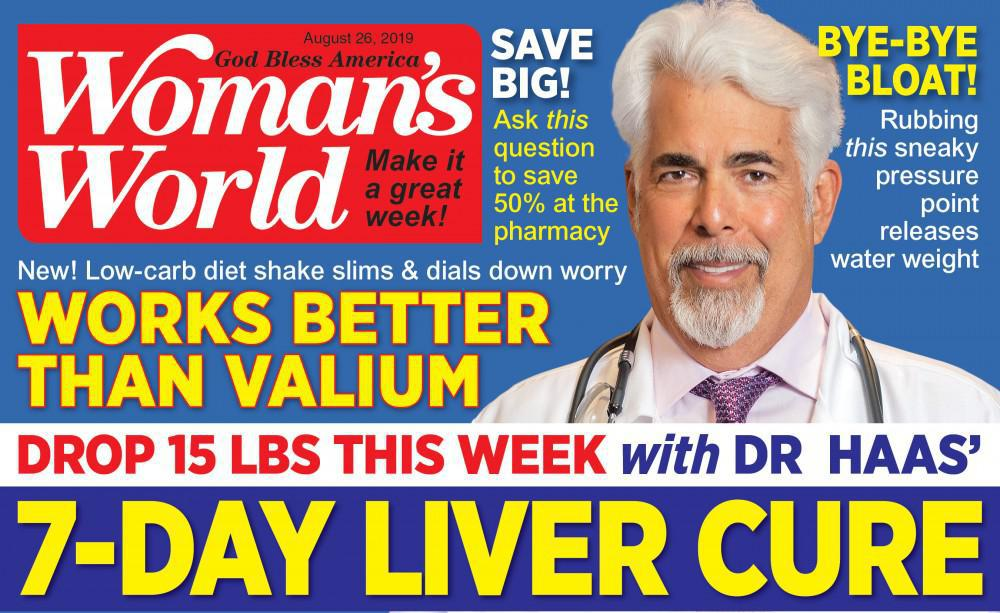 Cover of Woman's World featuring Dr. Haas