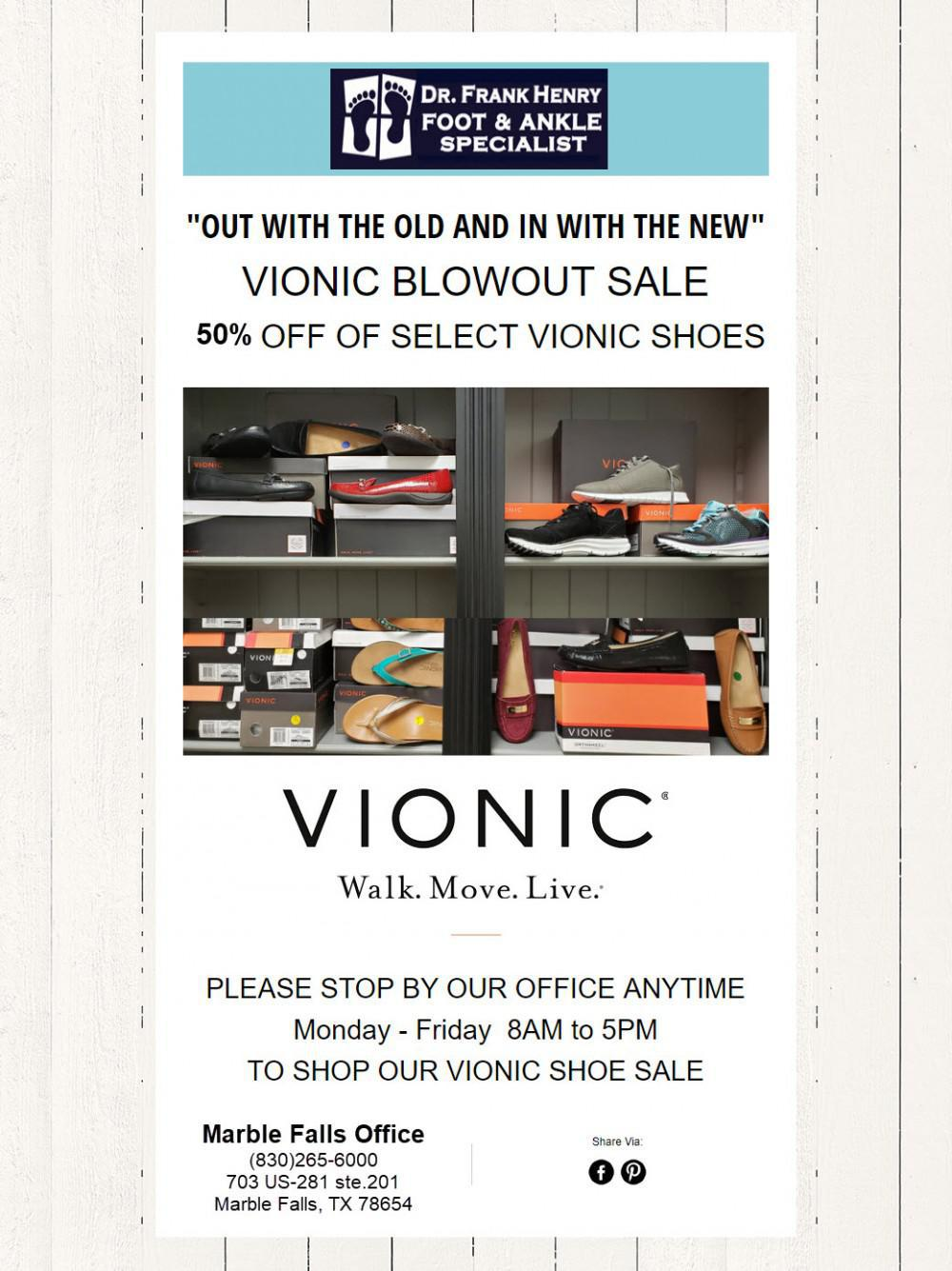 50% OFF VIONIC SHOE SALE
