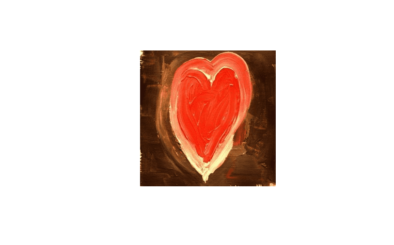 Picture of a painted heart.