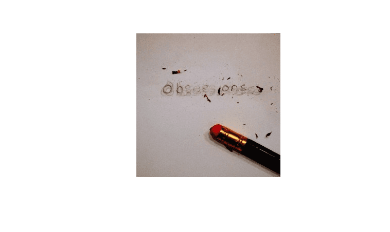 The word 'obsessions' written in pencil and erased.