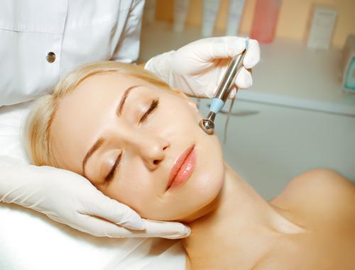 Women getting laser treatment