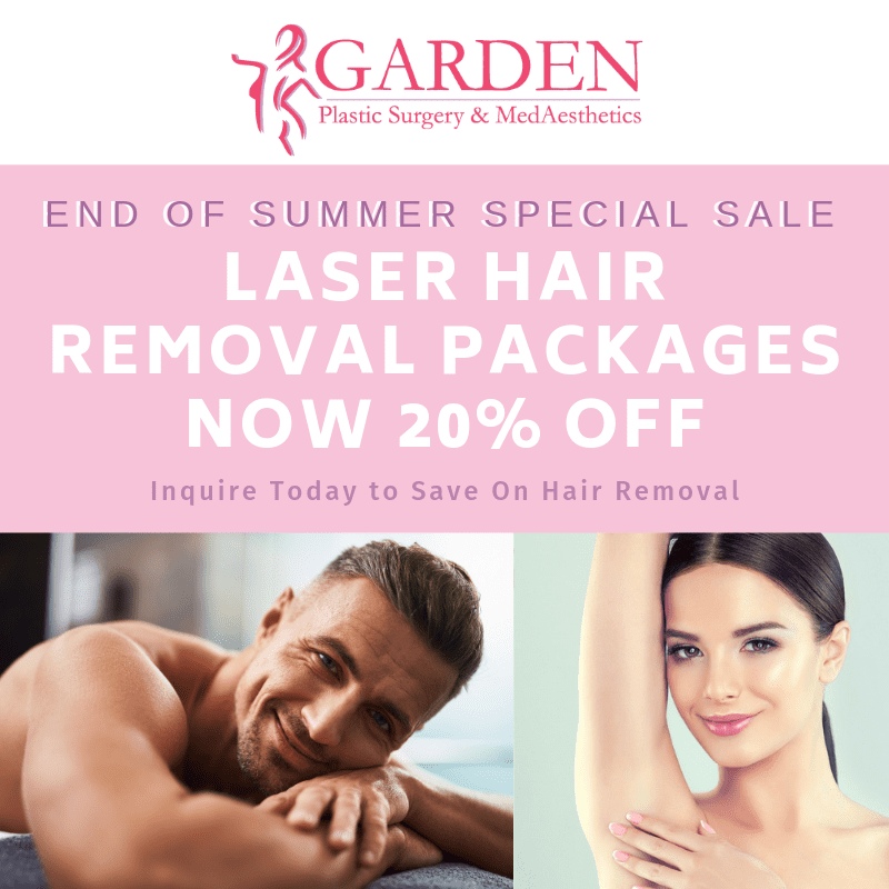 20% Off Laser Hair Removal packages