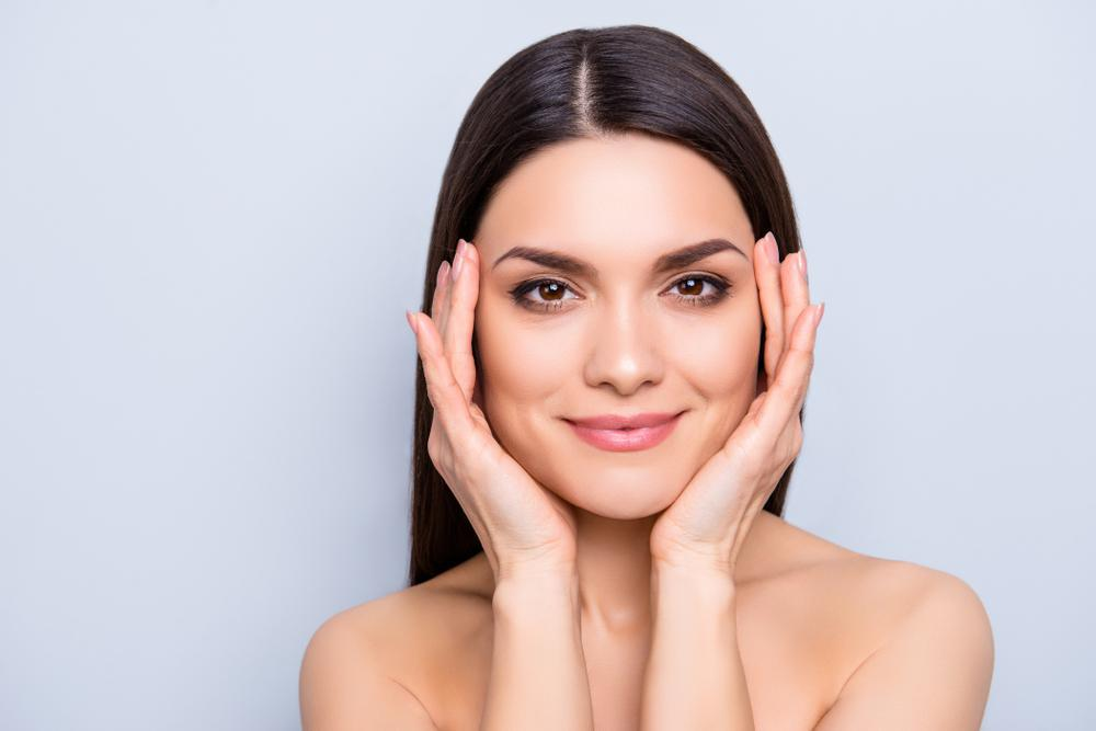 Plumping your cheeks works wonders for regaining youthful proportions.