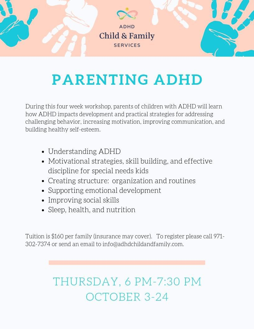 Parenting Workshop for ADHD