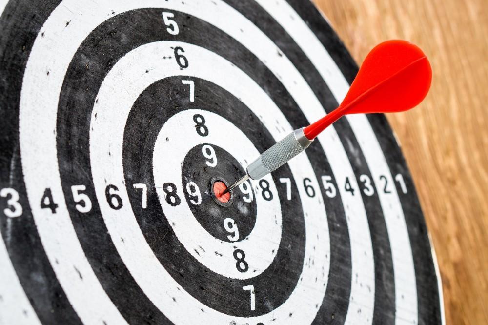 Bullseye on Dart Board Reflective of Perfectionism