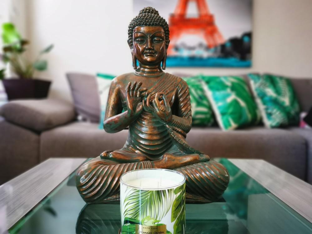 Buddha and candle.