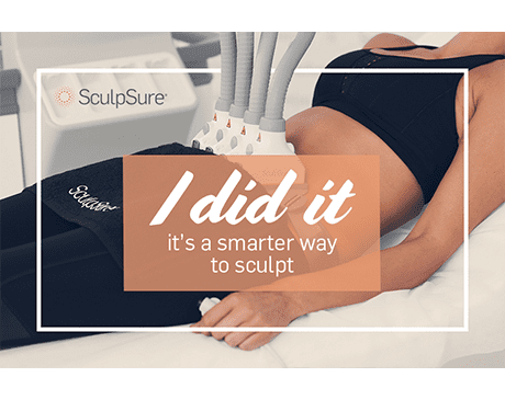 model patient undergoing SculpSure treatment - I did it. it's a smarter way to sculpt