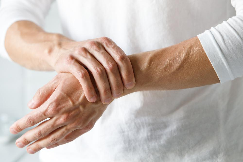 There are several types of arthritis, including osteoarthritis (caused by a breakdown of the cartilage inside a joint — also