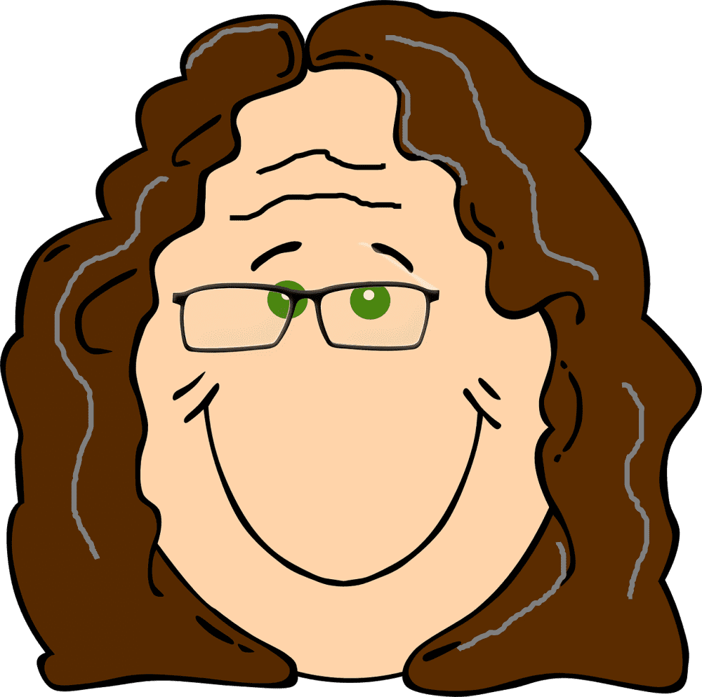 Older woman smiles