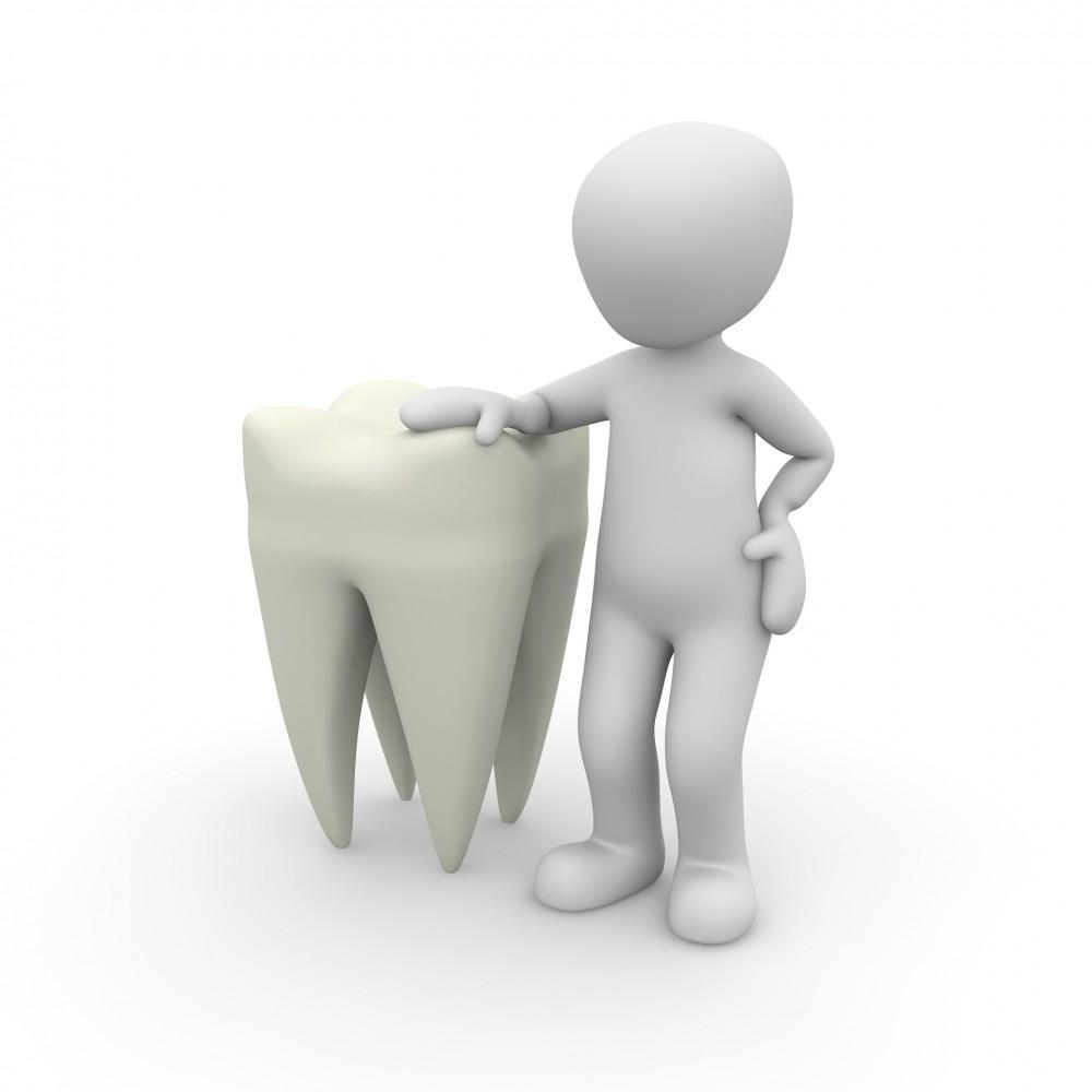 Cartoon man with tooth