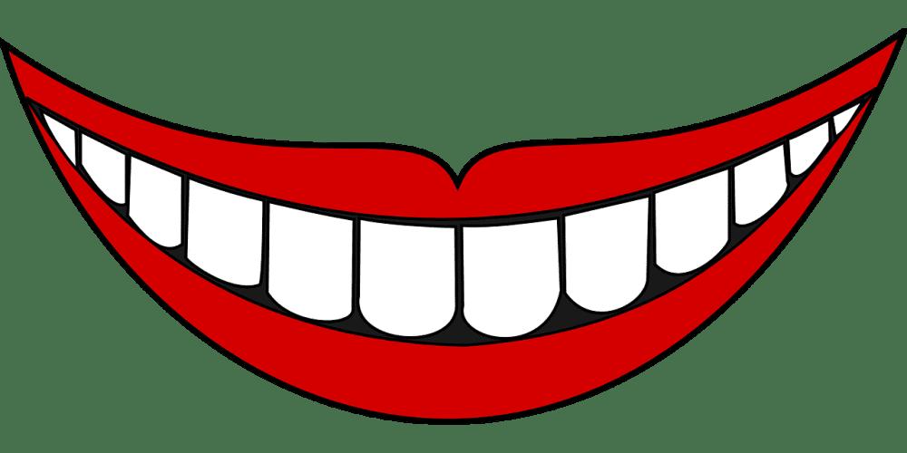 Cartoon smile with teeth