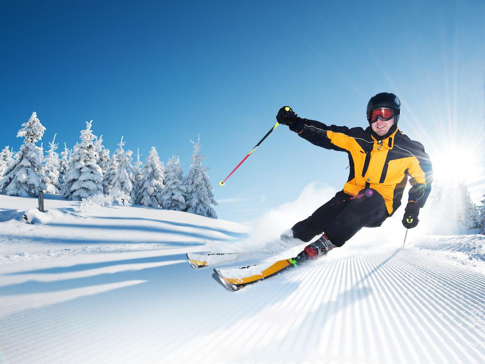 While grabbing your skis to hit the slopes can be a great way to spend a winter day, your back and knees can get injured no m