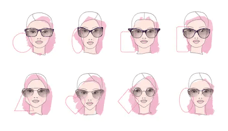 Eyeglass face shapes