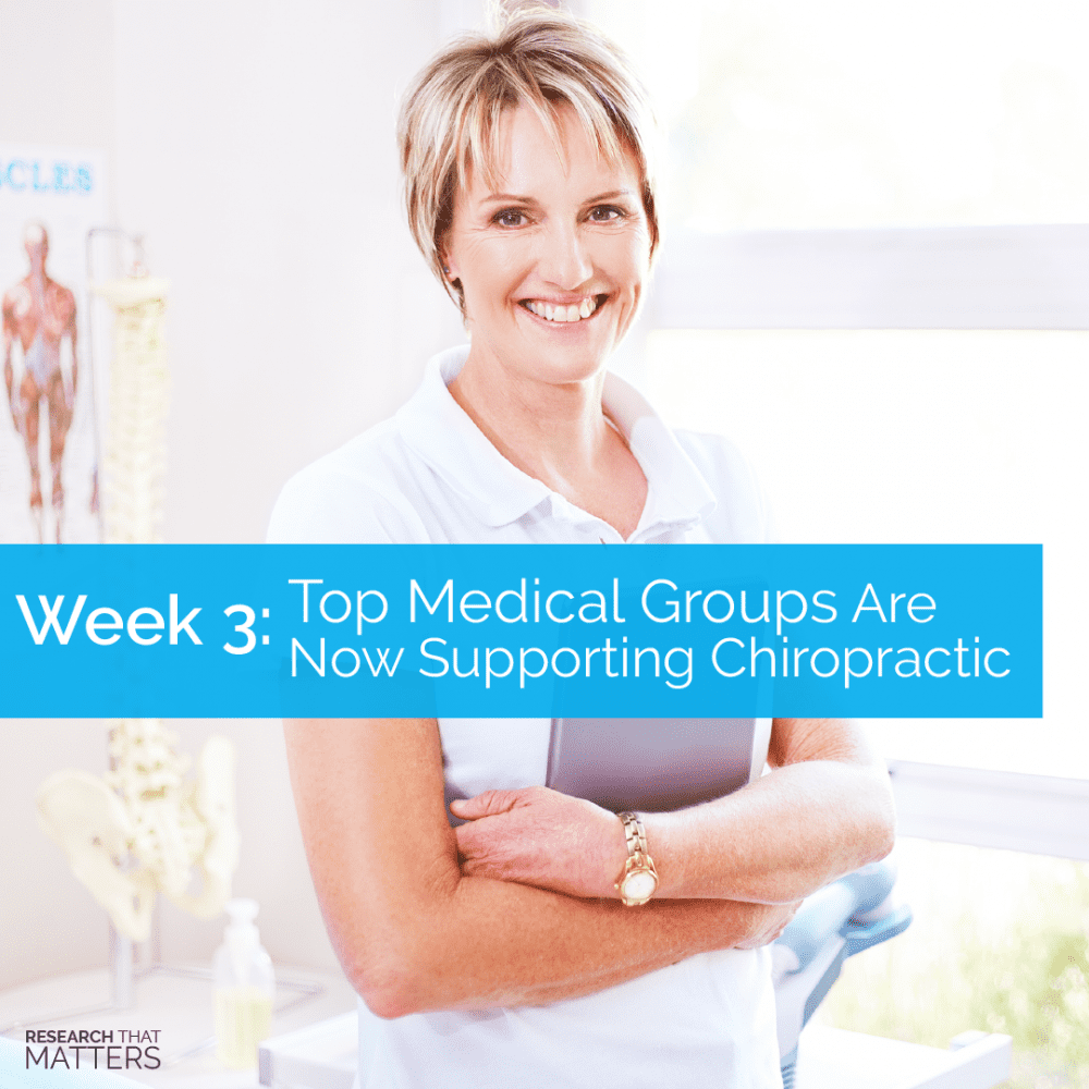 Medicine Supporting Chiropractic