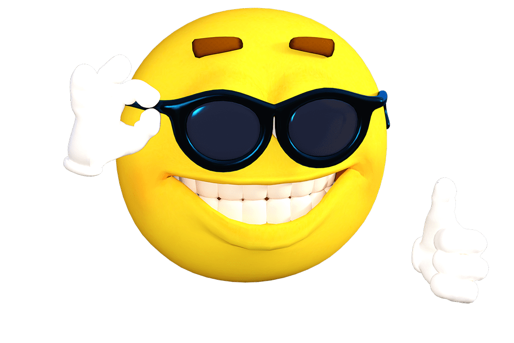 Smiley face showing teeth