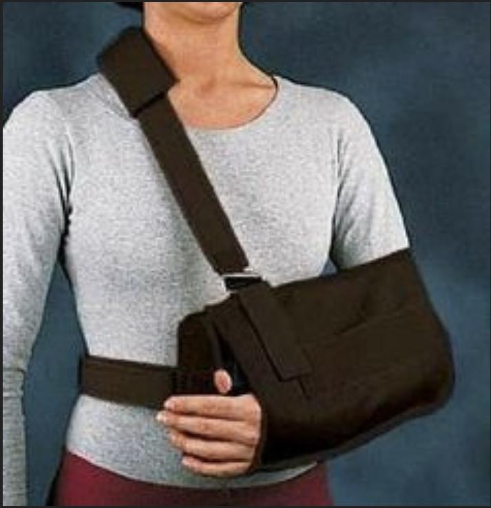 Post-op rotator cuff repair in a sling