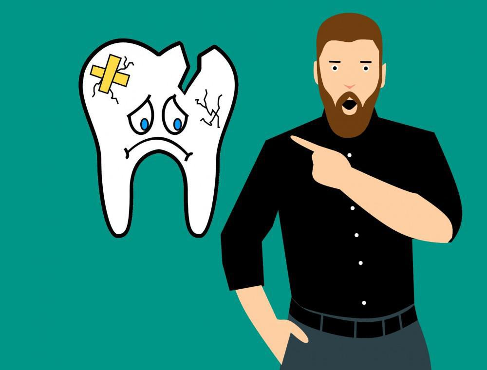 Broken Tooth Cartoon