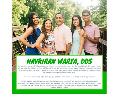 ,  Office of Navkiran Warya, DDS