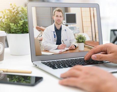 doctor doing a telemedicine call