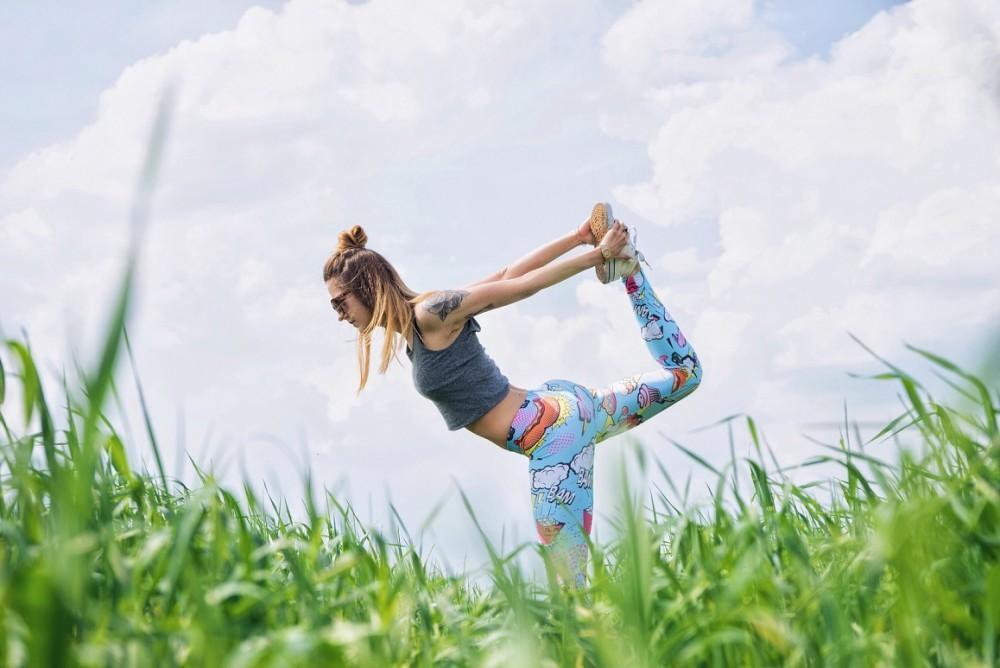 Woman Doing Yoga- National Women's Health Week