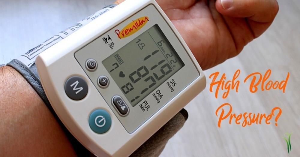 person monitoring their high blood pressure