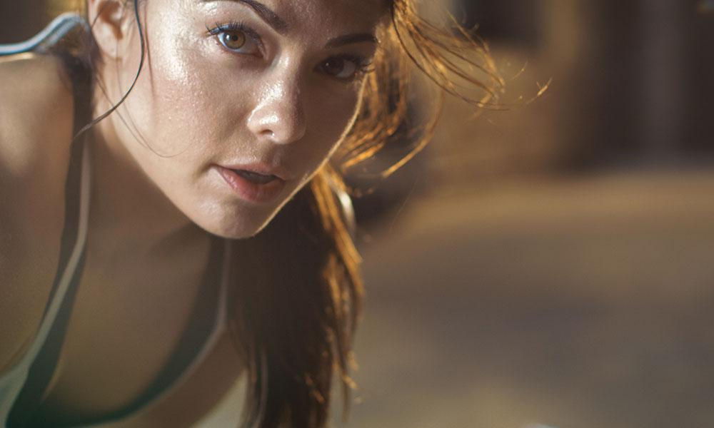 sweating after exercise