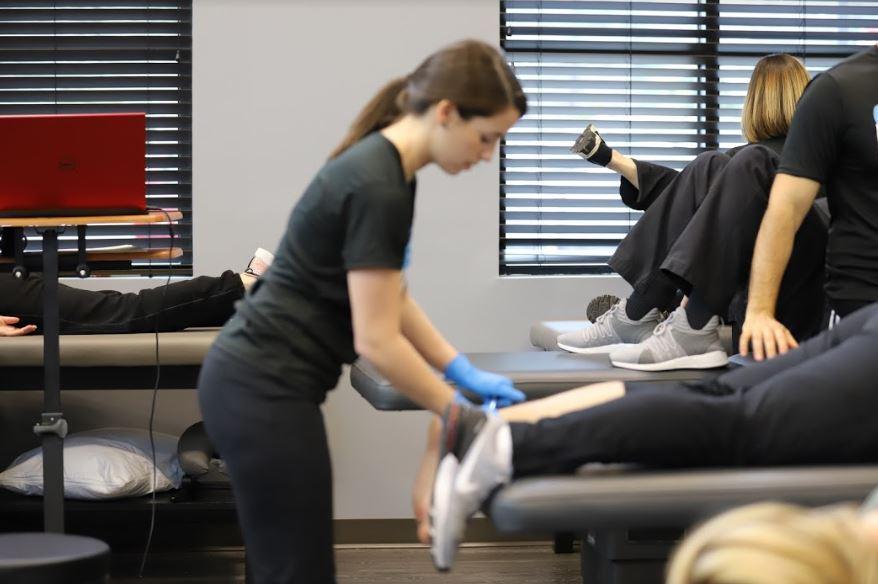 woman giving foot massage