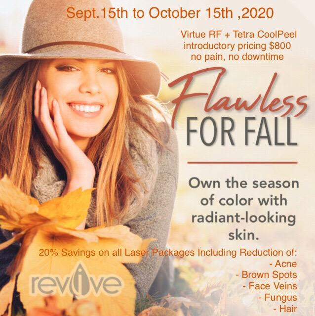 Flawless for Fall Laser Treatment Promotion