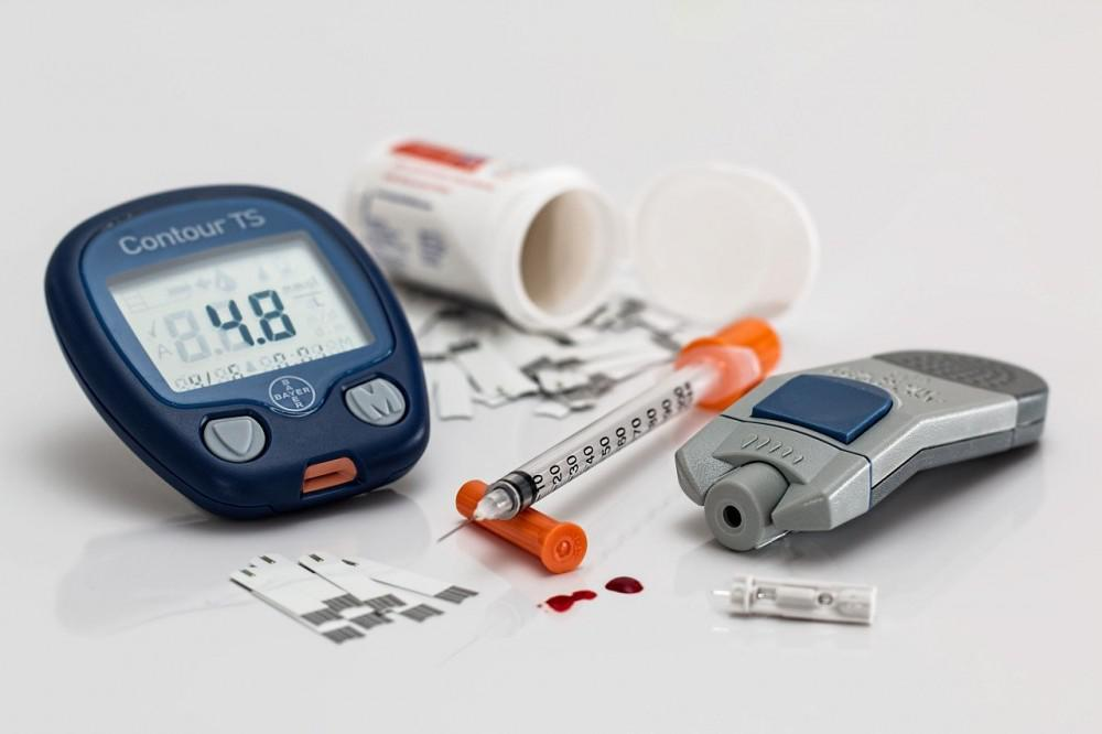 A diabetic person's medication