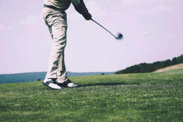This image shows someone playing golf