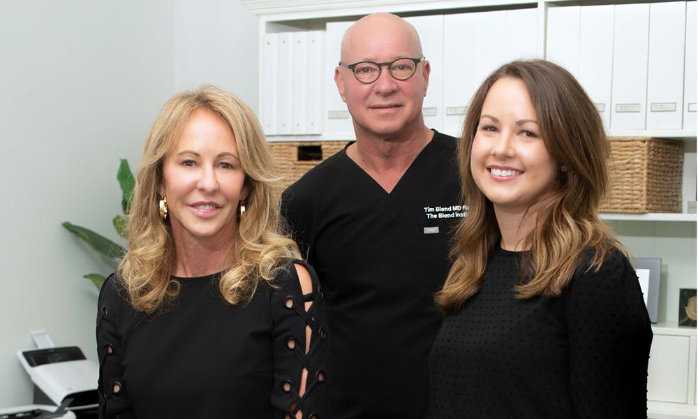 The Blend Institute team (from left to right) Kim Blend, ARNP, Tim Blend, MD and Colleen Monaghan, office manager .