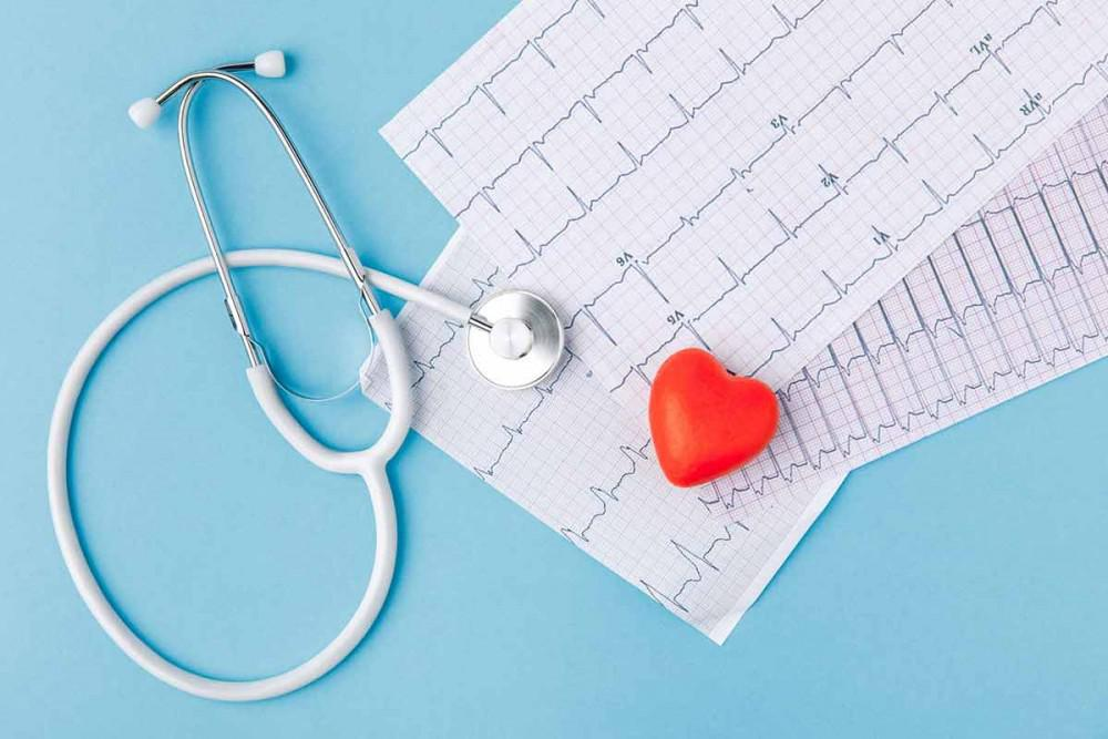 Heart Healthy Lifestyle - a stethoscope next to a red heart